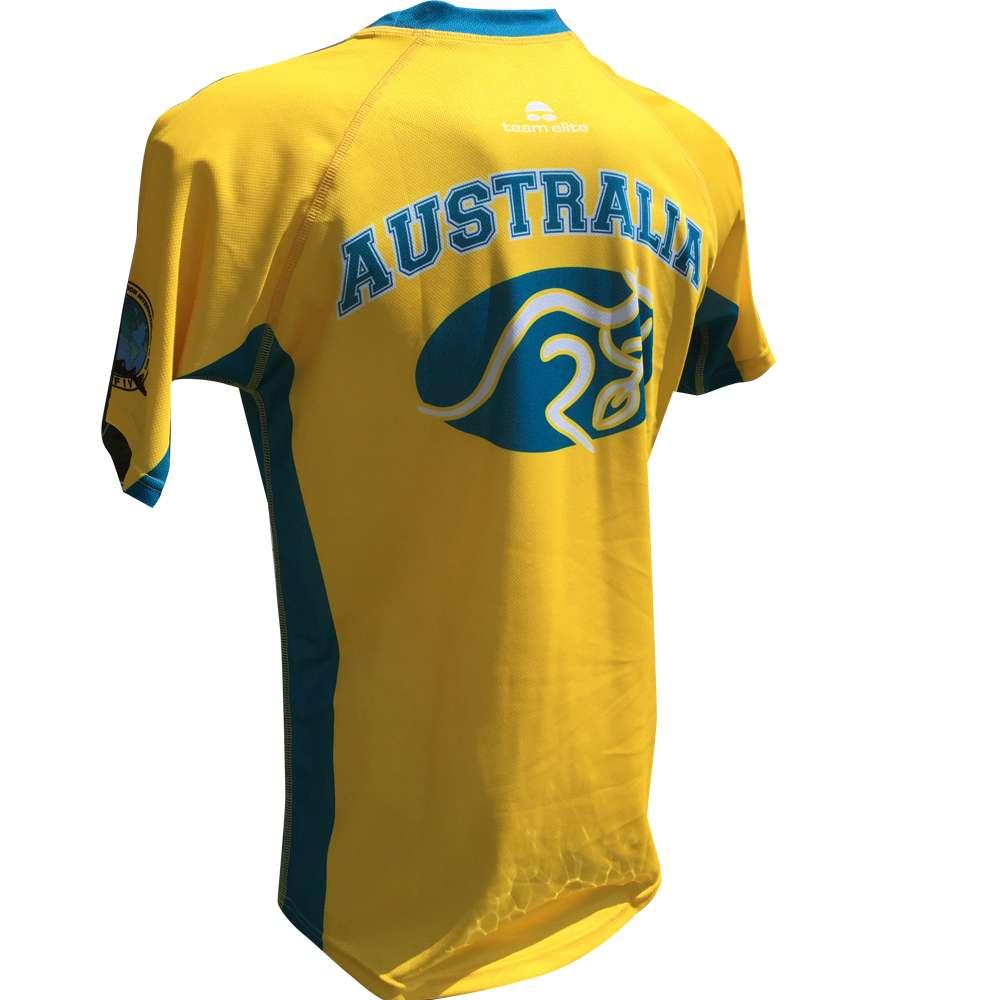 Aocra Yellow Sublimated Tee Back Team Elite