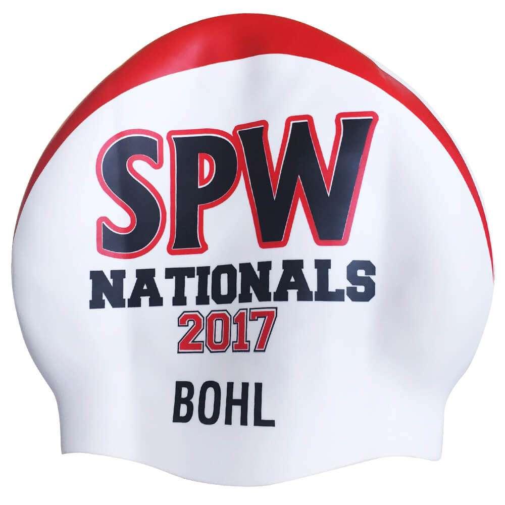 St Peters Western swim club championships custom cap