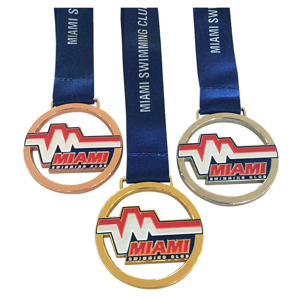 Miami Hero Custom Medals Gold Silver Bronze