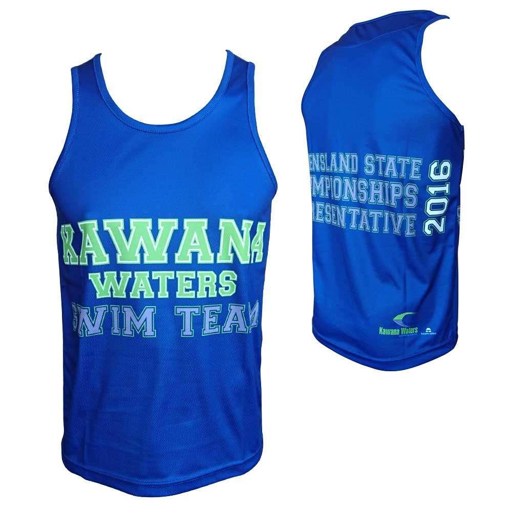kawana waters swimming club sublimated singlet