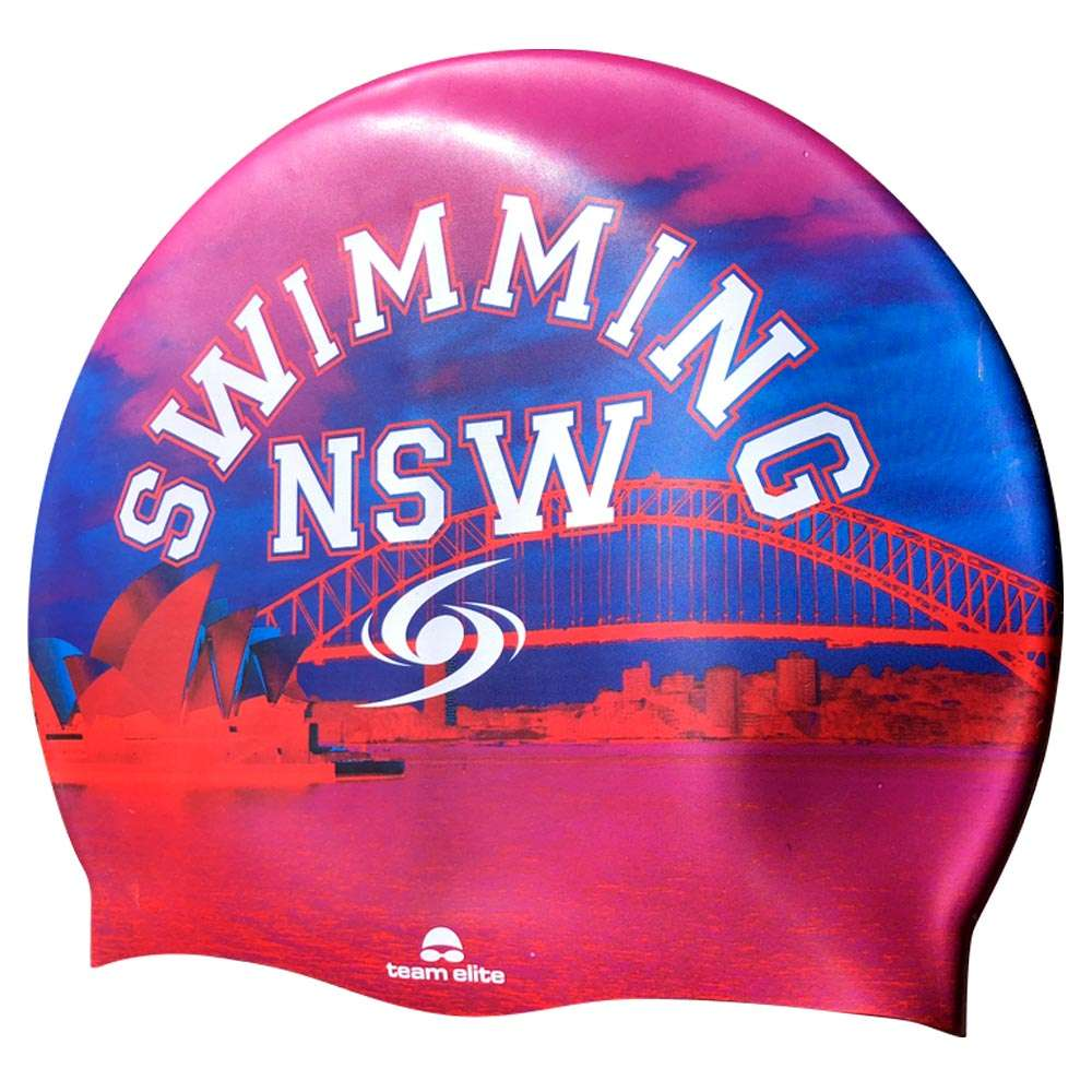 digitally printed swim cap customisable