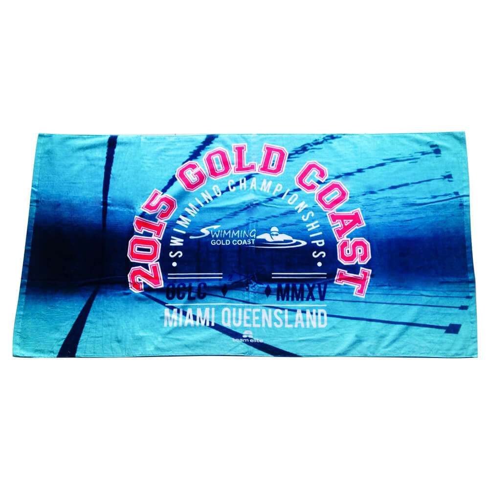 beach towel sublimated custom water polo