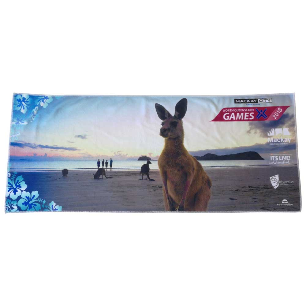 north queensland games custom event gym towel