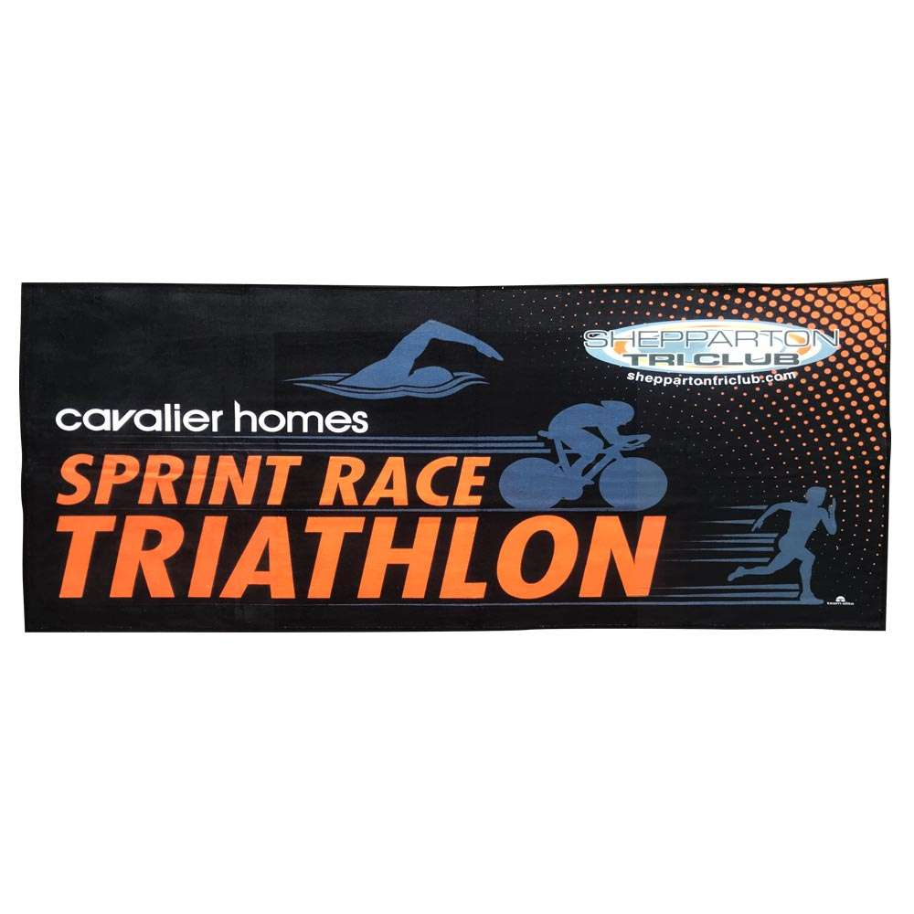 custom gym towel event team triathlon