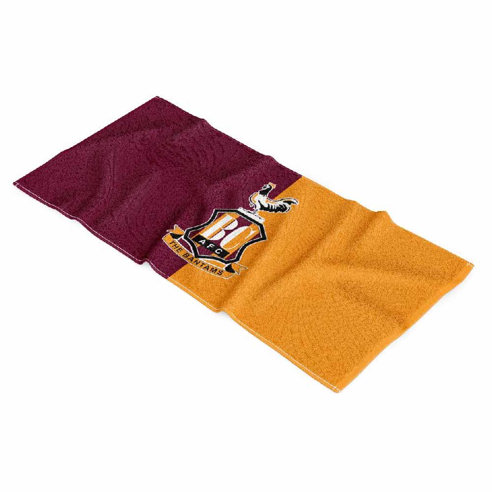 Soccer Towel Marron Yellow-01