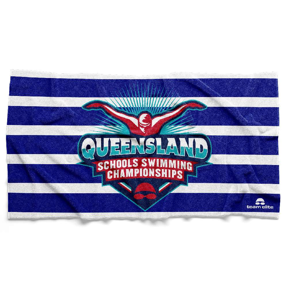 Queensland School Sport Swimming Championships Sublimated Beach Towel